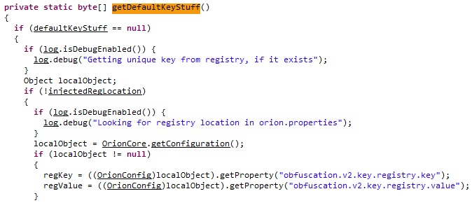 getDefaultKeyStuff Obtaining a Value from the Registry